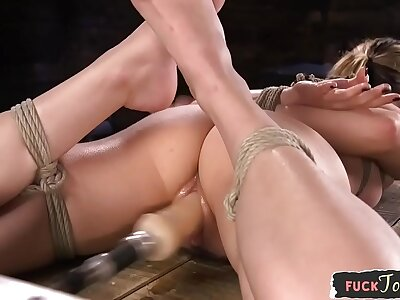 BDSM tackle spoil gets throatfucked