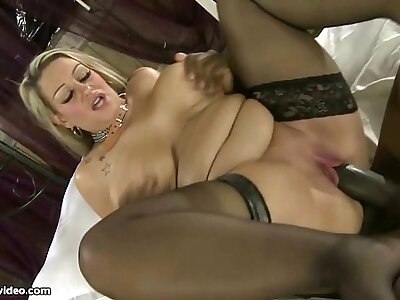 Calumnious British Beamy Boob MILF Sucks Beamy Sombre Load of shit